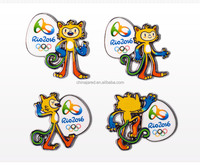 Rio2016 Olympic mascots Vinicius and Tom metal pin badges