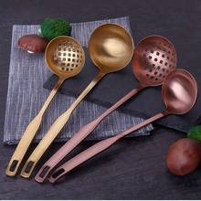 Factory direct dishwasher safe gold ladle/soup spoon, china brass kitchen tools