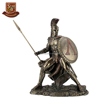 Medieval armor retro collectible pewter knight bronze military statue