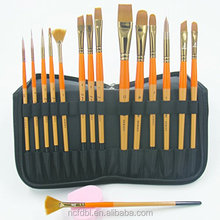 15 Pcs Art Travel Cat Lukisan Minyak Cat Air Akrilik Menangani Artist Brushes Set untuk Anak-anak