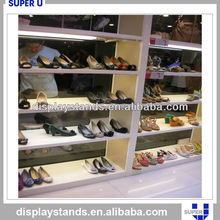 Tailor made commercial wooden shop module Retail shoe Rack