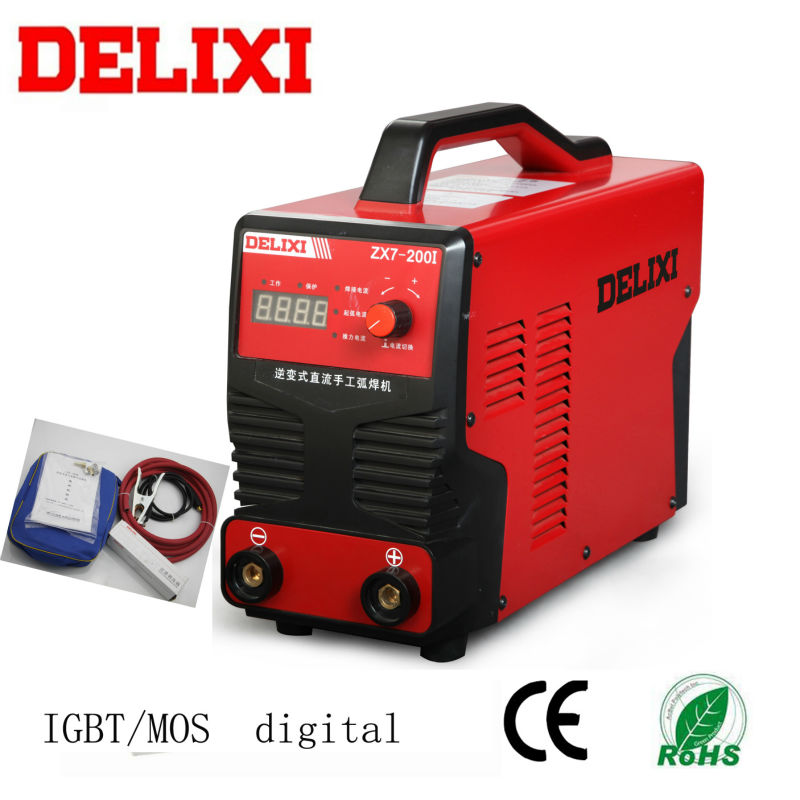 ZX7-200A dc MMA digital portable arc welding machine.