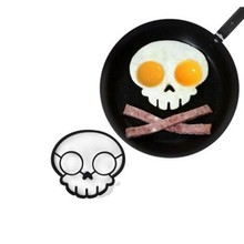 Skull Shape Superior Quality Cooking Silicone Egg Poacher Silicone Fried Rings Egg Mold