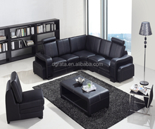 2017 latest high quality classic European design Microfibre leather+PVC Furniture 3 seater sofa set with Corner