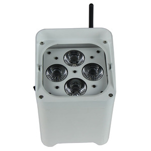 High Quality Rechargeable Wifi RGBWAUV Battery Power Wireless DMX 4x18w LED Par