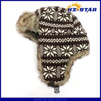 HZM-13942 Wholesale Cashmere Ear Beanie head cover for winter