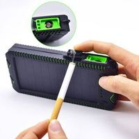Waterproof solar power bank 40000mah power banks solar with led cigarette lighter light