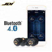 High quality bluetooth 4.0 tpms for 4 sensors external Tyre Pressure Monitoring System Support Android and iOS