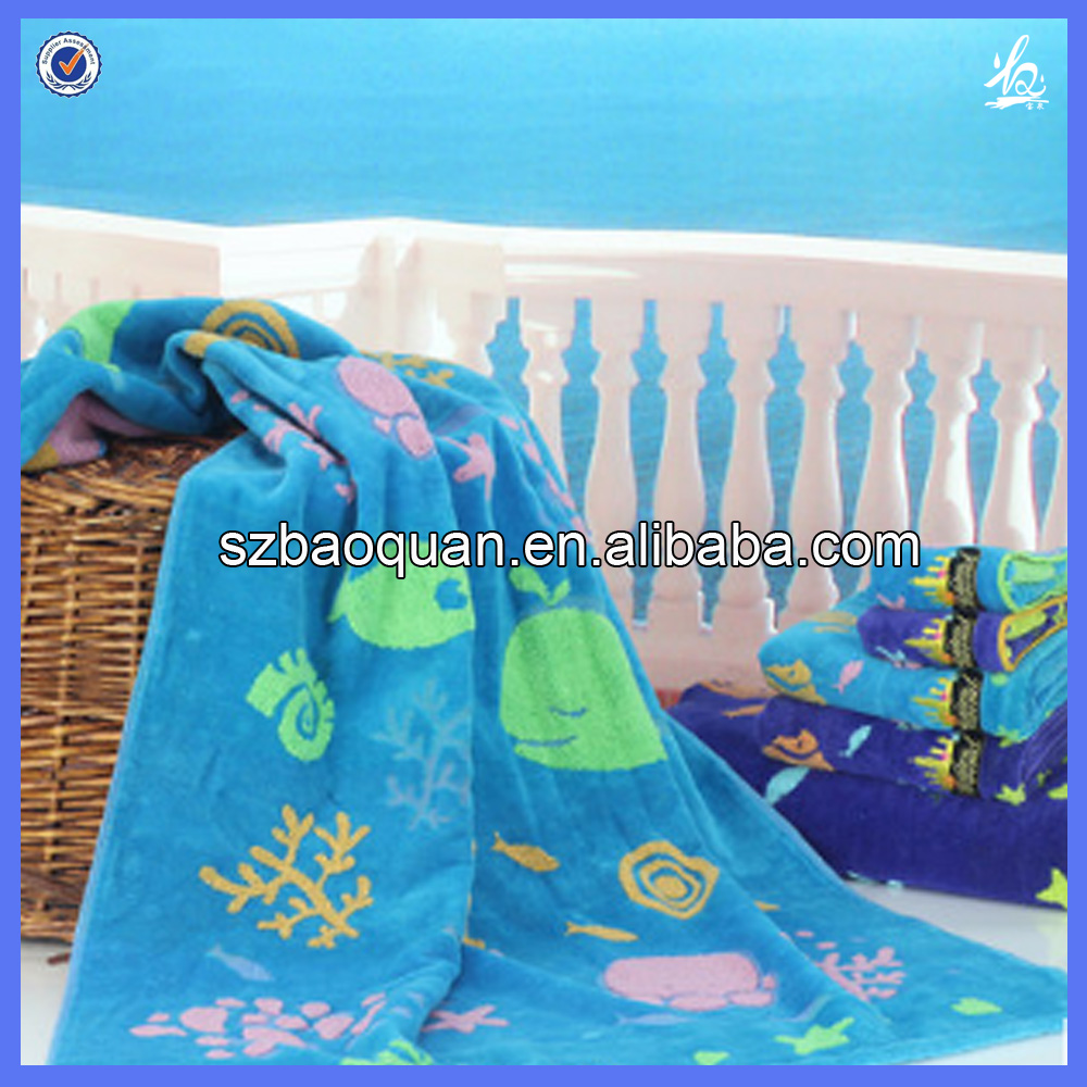 Hight quality softtextile cut pile beach towel with amazing Underwater World