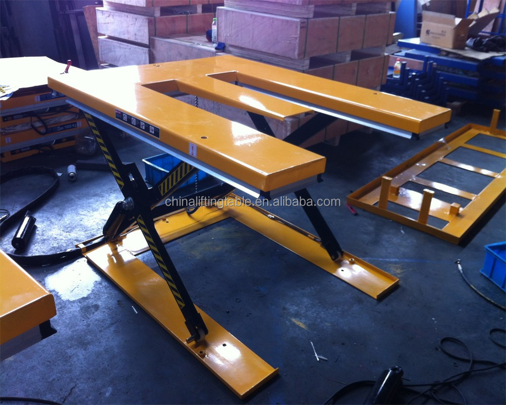 ultra-low E type low profile electric hydraulic scissors lift table with best price