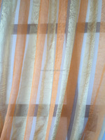 stripe fabrics crushed sheer fabrics ready made curtain for cafe living room curtain