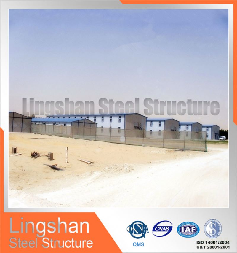 accommodation build simple portable steel structure prefab house