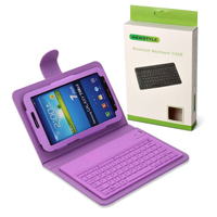 Wireless Bluetooth Silicone Keyboard PU Leather Stand Case For Samsung Galaxy Tab 3 7.0 P3200