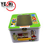 Square Metal Toy Sets Packing Tin Boxes