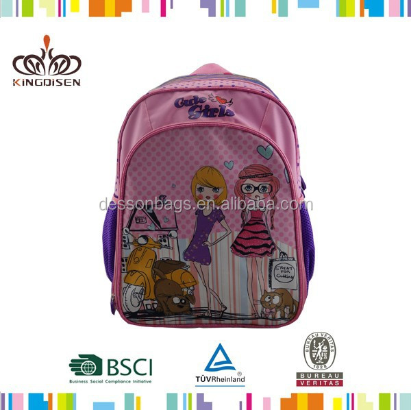 Best selling kids cartoon picture of school bag for girls