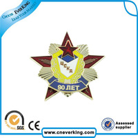 cool design multi-color printed star badge