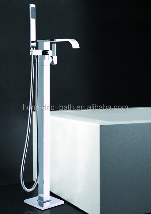 Free Standing Floor Mouted Bathtub Faucet W Hand Shower Online Shopping Buy