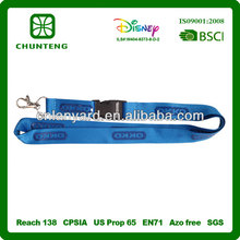 Eco-Friendly silicone printing / cheap custom lanyards no minimum order