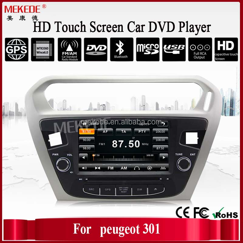 car dvd for peugeot 301 car dvd gps with bluetooth/Phonebook/swc/rds/usb