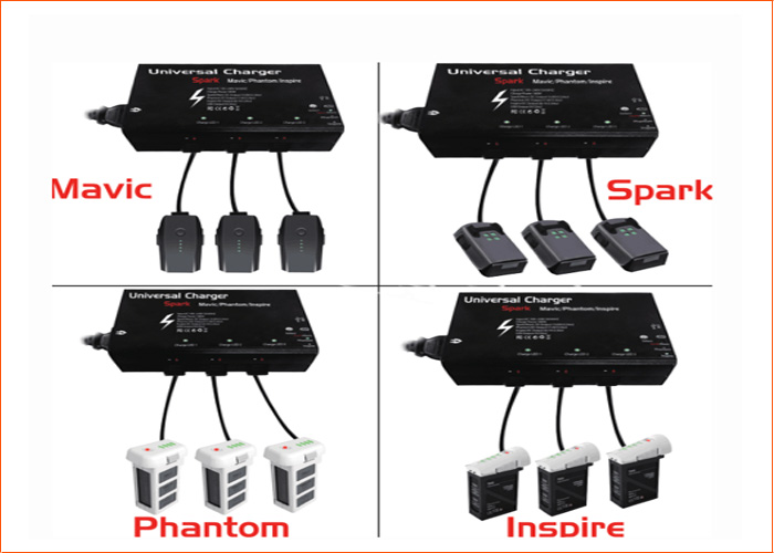 5 in 1 Charger for DJI Mavic Pro FPV Drone 3 Intelligent Battery & Remote Controller & Smart Phone Charging