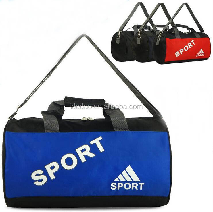 Custom duffle sports bag for gym, promotional wholesale round sports canvas travel gym bag
