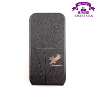 pu+pc flip down case for samsung galaxy s4 mini cover