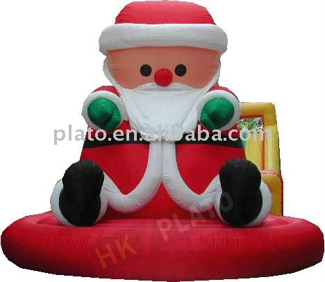 inflatable christmas sleighs/2013 new inflatable X'mas decoration