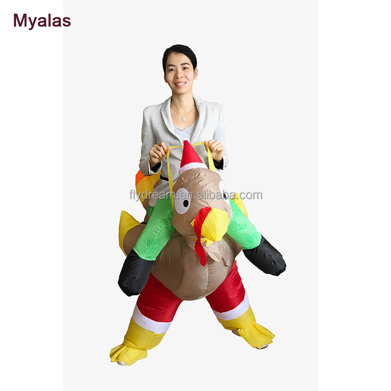 INFLATABLE Dinosaur turkey Costumes for women/men T-Rex Dinosaur Halloween Inflatable costume mascot Party costume for adult