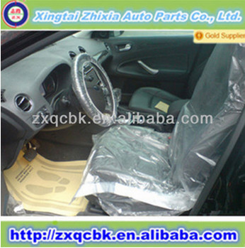 PE/LDPE/HDPE universal full set disposable plastic car seat cover with factory price
