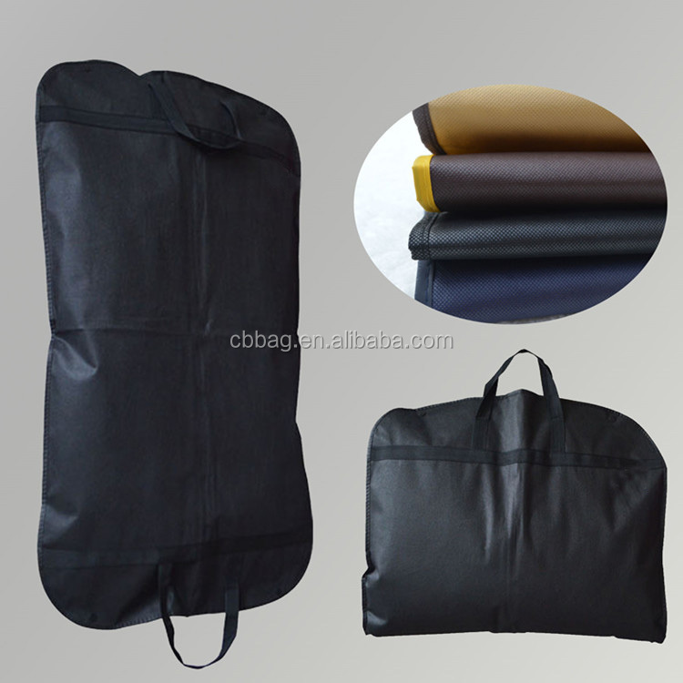 2018 wholesale custom non woven dry cleaning organza garment suit cover bag with print