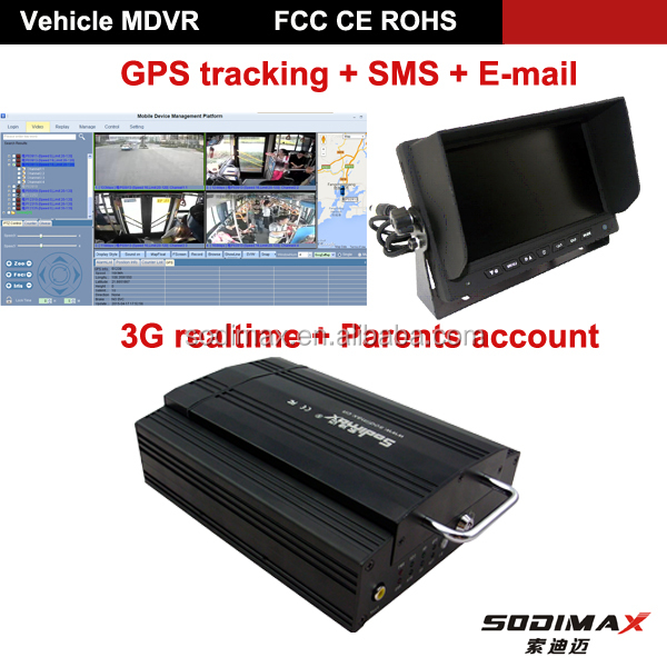 Nigt vision low price 1080P HD HDD vehicle DVR 3G WIFI GPS mobile DVR with flash card video recorder