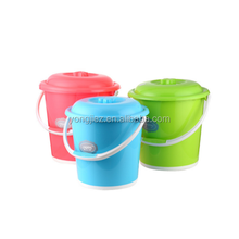 Large Medium Small plastic water bucket with cover