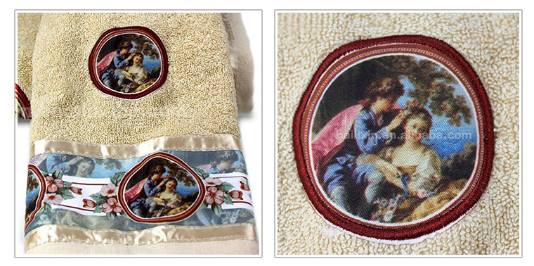Popular in Russia embroidery border bath towel for door gift or souvenir