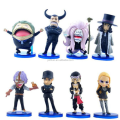 custom make Anime One piece PVC Mini Statues Figurines,custom plastic mold cartoon pvc figurines