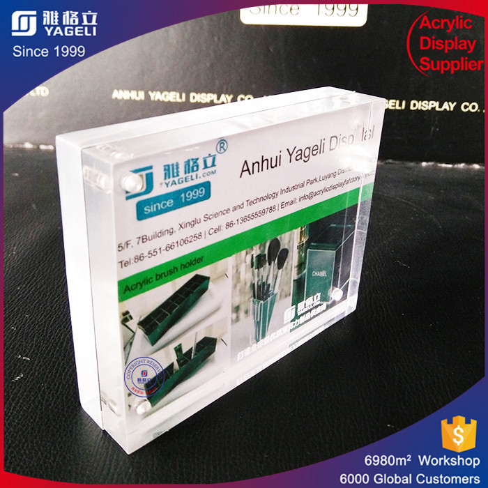 Fashion acrylic photo frame new models simply sandwich your photo between two transparent acrylic sheet factory sale