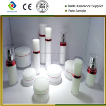 Acrylic straight round Lotion Bottles, cosmetic container &cream jars packaging cosmetic