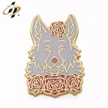 Shuanghua factory custom your own beautiful hard enamel pins for wholesale