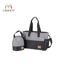Trendy stylish nappy black and grey baby diaper tote bags 2016