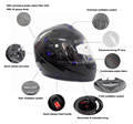 Carbon Fiber Full Face Helmet,Helmet Motorcycle Type and ABS Material Helmet Motorcycle