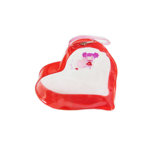 Heart shape clear plastic coin bag with various printing XYL-G322