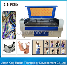Hot sale ! HX-1290SG 80W fabric, leather and textile laser cutting machine