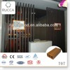 WPC interior decorative wood slat. lows prices wood lumber for room partition, wall cladding 100*50*3mm new building materials