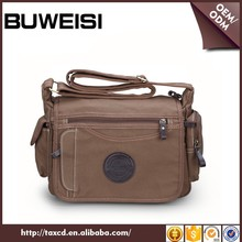 Clear stock BUWEISI leisure travel vintage canvas camera bag for men