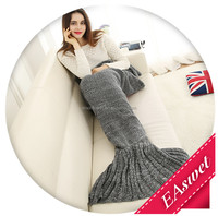 Amazon hot sale mermaid tail blankets comfortable soft life comfort mermaid fish design flannel baby blanket