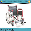 JL Powder coating wheelchair,red foldable steel wheelchair for elderly JL903