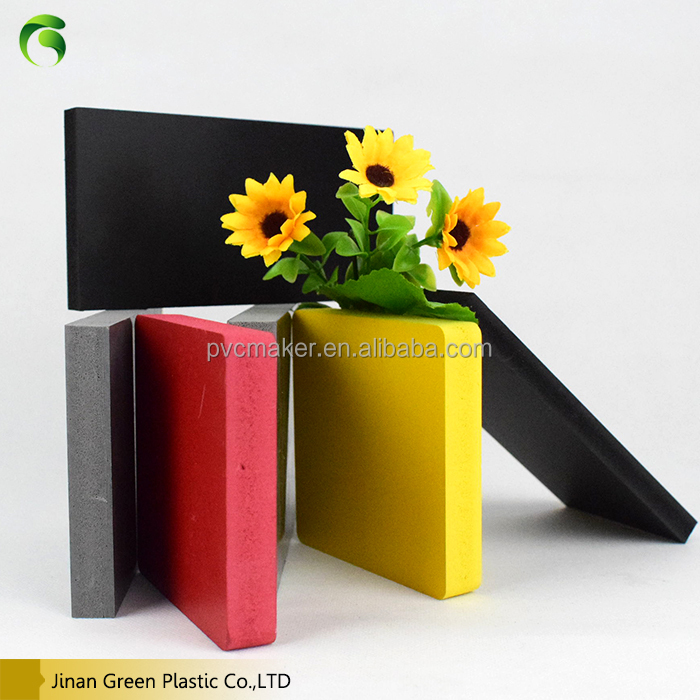 Green 2016 High quality 6mm 8mm 10mm thick plastic sheets /pvc foam board