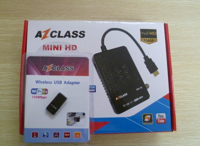 Azclass Mini HD fta satellite receiver decodificador to south america smart tv box free IKS