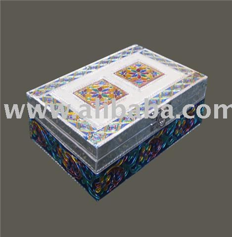 metal plated jewelry box