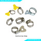 stainless steel automotive petrol motor air compressor hydraulic rubber hose pipe clamp fittigns