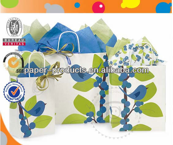 Mini Gift Coated C2S Paper Bags For Fruits,Flowers,Mini Gifts